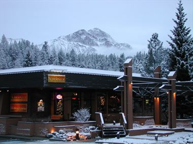 Hotel Exterior in Winter